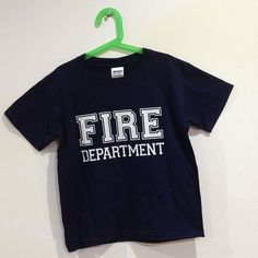 CHILDRENS FIRE DEPARTMENT T-SHIRT £7.50 with FREE UK DELIVERY - This childrens crew neck t-shirt comes printed to order with the FIRE DEPARTMENT Slogan. www.esopersonalise.co.uk