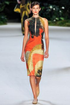 Beautiful prints at Akris SS13 RTW
