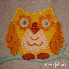 Applique Block - Woodland Owl | Wee Folk Art