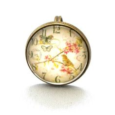 10 SALE  Ring Flower Clock in light background by timegemstone, £6.59