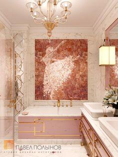 Фото интерьер ванной комнаты для девочек из проекта ...