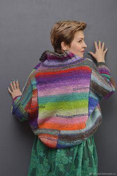 Crochet Butterfly Free Pattern, Crochet Leaf Patterns, Sweater Knitting Patterns, Knitting Stitches, Knitting Yarn, Hand Knitting, Knitwear Fashion, Knit Fashion, Freeform Crochet