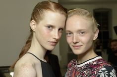 Backstage at Suno Spring 2015 - High blush