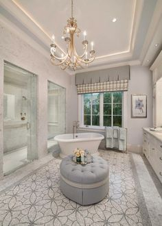 Luxe master bathroom in a custom home in Park Shore, Naples, Florida | House of Turquoise: Stofft Cooney Architects