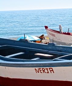 Nerja fishing boats Fishing Villages, Fishing Boats, Past, Past Tense