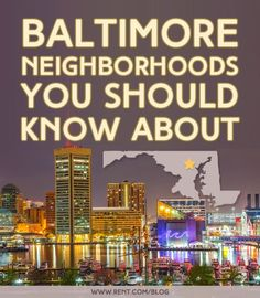 Looking for Baltimore neighborhoods with cute coffee shops and vintage clothing stores? Interested in finding a Baltimore apartment in a trending area? If you're heading to Charm City, here's a guide to Baltimore's most up-and-coming neighborhoods that you don't want to miss. [www.rent.com Blog] #Baltimore #Maryland