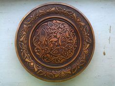plate of wood от WoodcarvingSergio на Etsy