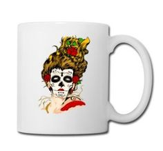 The Day of The Dead Skull Face - Full Color Mug #mug #travelmug #sugarskull #skull #skeleton #bone #hallowen #nightmare #monster #dracula #zombie #hunter #evil #devil #daemon #magic #witch #voodoo #kingdom #animal #animalkingdom #ghost #vampire #hauntedmansion #bird #lion #beast #jungle