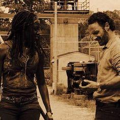 Michonne and Rick - season 4