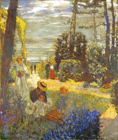 alongtimealone: Edouard Vuillard,  (French, 1868-1940)  - The Garden Terrace at Vasouy  - 1901 (by *Huismus)