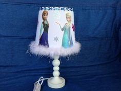 Disney Frozen Pink Table Lamp | Disney, Can lights and Frozen