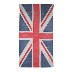 Fresco Towels Union Jack Beach Towel ($90) ❤ liked on Polyvore featuring home, bed & bath, bath, beach towels, towels, accessories, beach, other, swimwear and sand