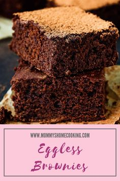 Pin image Eggless Recipes, Eggless Baking, My Recipes, Soup Recipes, Baking Pans, Baking Soda, Egg Allergy, Tasty