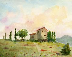tuscany water colors - Google Search