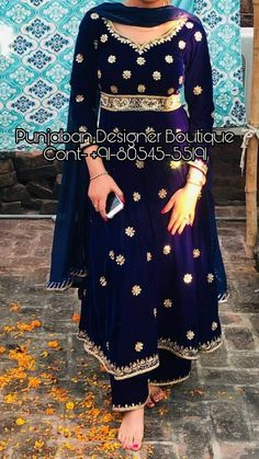 Buy Anarkali dresses for women online in India. 👉 CALL US : + 91 - or Whatsapp Designer Anarkali Suit Work : Handwork COLOURS Available In All Colours Fine quality fabric Indian Bridal Outfits, Pakistani Outfits, Indian Dresses, Punjabi Suits Designer Boutique, Indian Designer Suits, Boutique Suits, Embroidery Suits Punjabi, Embroidery Suits Design, Embroidery Designs