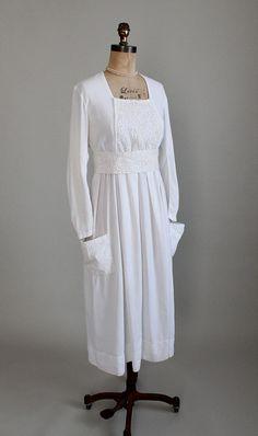 Vintage 1910s Dress  Edwardian White Lawn Dress by RaleighVintage, $268.00