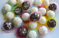 Τρουφάκια καρύδας νηστίσιμα (αλάδωτα), χωρίς ψήσιμο και με υλικό έκπληξη! - cretangastronomy.gr
