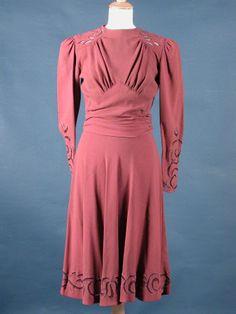 Wedding dress, 1941, English. via Killerton Fashion Collection.