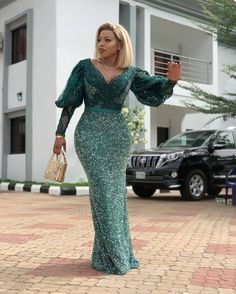 nigerian dress styles Latest Aso Ebi Styles 40 African Clothing Aso ebi Styles for Ladies: Trendy Lace Designs 2020 - photo African Maxi Dresses, Latest African Fashion Dresses, African Inspired Fashion, African Print Fashion, African Attire, Nigerian Dress Styles, Lace Gown Styles, African Lace Styles, African Traditional Dresses