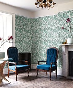 #WallpaperWednesday trailing florals & lively green hues can bring your walls to life this spring! See more exotic designs captured in our Origin wallcoverings, from captivating jungle scenes to textural faux-hides... www.prestigious.co.uk/wallcoverings/origin