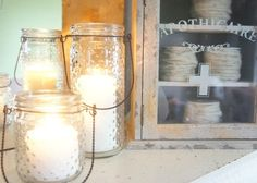 Hobnail Votives - beautiful for wedding or hanging outside with candles during the warmer months
