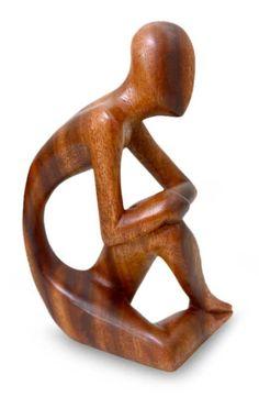 Wood sculpture - Alone | NOVICA