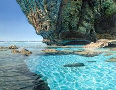 Sunlit Cave Pool, Oil on Canvas, 70 x 55 cm Private Collection Florida Mark Cross (oil on canvas) from markcross. Vacation Places, Dream Vacations, Vacation Spots, Places To Travel, Places To See, Travel Destinations, Mark Cross, The Beautiful South, Beautiful Places