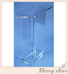 High quality acrylic speaker stand speaker truss stand clear acr ylic lectern podium pulpit