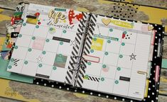 Carpe Diem planner with Life in Color Planner Inserts from design team member Candi Billman