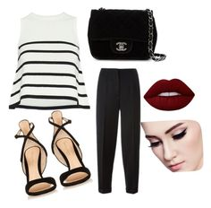 """""""Untitled #9"""" by harooj-1 on Polyvore featuring Cardigan, Alexander McQueen, Gianvito Rossi, Chanel and Lime Crime"""
