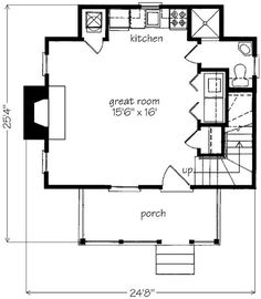 Looking for the best house plans? Check out the Crooked Creek plan from Southern Living. Cottage Floor Plans, Ranch House Plans, Cottage House Plans, Craftsman House Plans, Micro House Plans, Best House Plans, Modern House Plans, Southern Living House Plans, Country House Plans