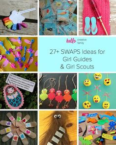 SWAPS Ideas for Girl Guides and Girl Scouts Looking for some inspiration for Girl Guide and Girl Scout SWAPS? Check out these easy and adorable SWAPS ideas and projects that kids can craft! Girl Scout Swap, Girl Scout Leader, Girl Scout Troop, Brownie Girl Scouts, Girl Scout Cookies, Swaps For Girl Scouts, Scout Mom, Creative Logo, Creative Kids