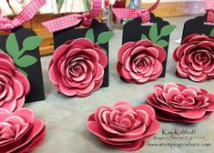 Spiral Rose Ghirardelli Treat Holders with How To Video - Stamping To Share