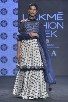 Shop Punit Balana Printed Short Anarkali With Lehenga set , Exclusive Indian Designer Latest Collections Available at Aza Fashions Indian Fashion Designers, Indian Designer Outfits, Designer Dresses, Lakme Fashion Week, India Fashion, Fashion Spring, Fashion Women, Fashion Ideas, Autumn Fashion