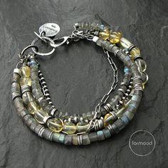 Bracelet labradorite citrine by studioformood on Etsy