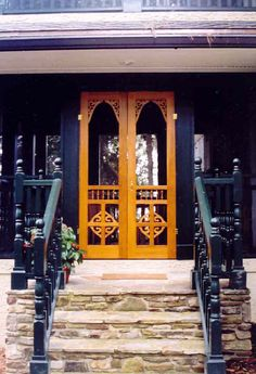 double chelsea screen u0026 storm door in spanish cedar browse more victorian door deisgns like this one that can be made into double screen and storm doors