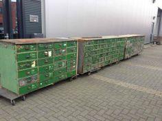 industrial drawers unit - 03 Antique and Brocante Furniture - Davidowski