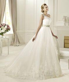 New White Ivory Lace One Shoulder Wedding Dress Custom Size 2 4 6 8 10 12 14 16
