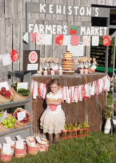 Farmers Market Birthday Party via Kara's Party Ideas | The Place for ALL THINGS PARTY! KarasPartyIdeas.com (8)