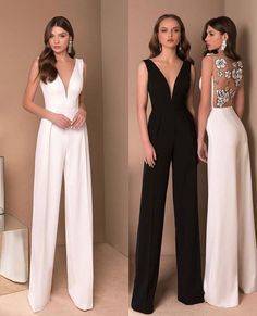 Woow White Or Black ? Through Olyamak_Official . Civil Wedding Dresses, Bridal Dresses, Prom Dresses, Formal Dresses, Dress For Wedding, Wedding Outfits For Women, Classy Dress, Classy Outfits, Dress Outfits