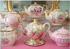 I am also a sucker for teapots & teacups..2 of my favorite vintage items along with glassware..just precious!!