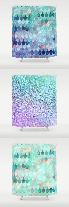 Everything mermaid ....... $68  Find the cutest mermaid showercurtains in my S6 shop and more home decor for mermaids at heart!  #mermaid #mermaidroom #mermaidscales #showercurtain #bathroom #deco #homedecor #mint #lilac #scales #fishscales #pattern #girls #shiny #bright #cute #purple #blue #monikastrigel #society6 #denydesigns