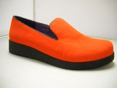 Addiction Bother mocassin available in Black, Green, Burnt Orange and Bright Blue. 3cm heel.    Sizes range 37-42.