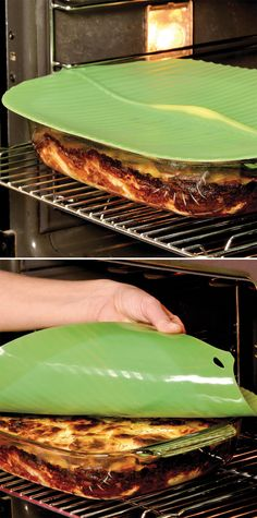 Charles Viancin Silicone Banana Leaf Lid - creates an airtight, watertight seal for reheating and storing PLUS it's reusable!