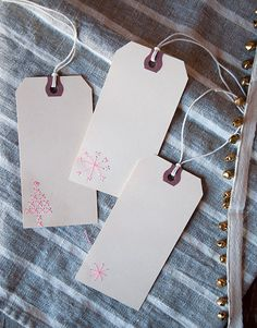 Simple embroidered gift tags are a fantastic cold weather project for those of us who haven't learned to knit or crochet yet! @mrsmeyersclean #designsponge