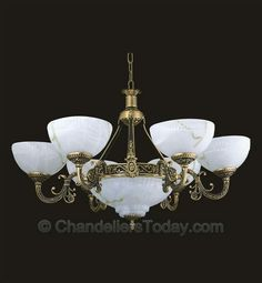 Dinning room light hand painted alabaster style great price victorian look