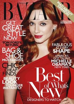 Bazaar November 2010 - Christina Hendricks
