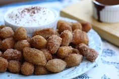 Churro Tots--fry biscuit dough in Fry Daddy then shake them up in a ...