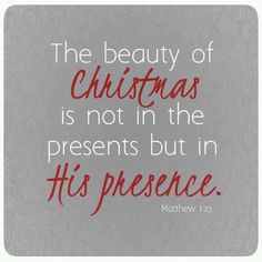 Unfortunately, many Christians forget this simple fact, and with Madison Avenue telling us what we NEED and our getting all gimme, gimme, gimme at Christmas, a reminder now and then is very helpful. <>< Merry Christmas!