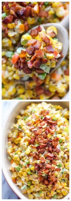 Bacon Corn Dip - This dip is unbelievably creamy and addicting. It's so good. you'll want to just skip the chips and eat this with a spoon!